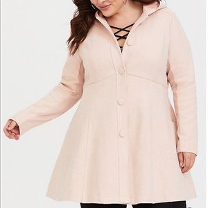 Torrid Fit and Flare Hooded Coat 4